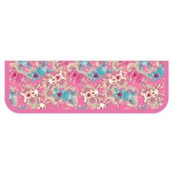 055344 Пенал 1 отд. (190*60)  Зайчики на розовом