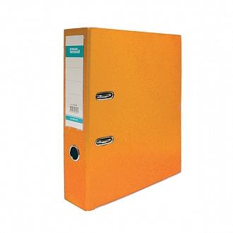 035595 Папка-регистратор STANGER РР А4,оранж.,75мм,метал.окант.