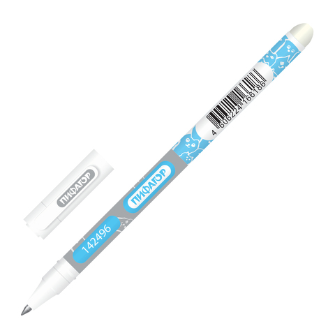 080123 Ручка стираемая гелевая ПИФАГОР, корпус двухцветный,синяя