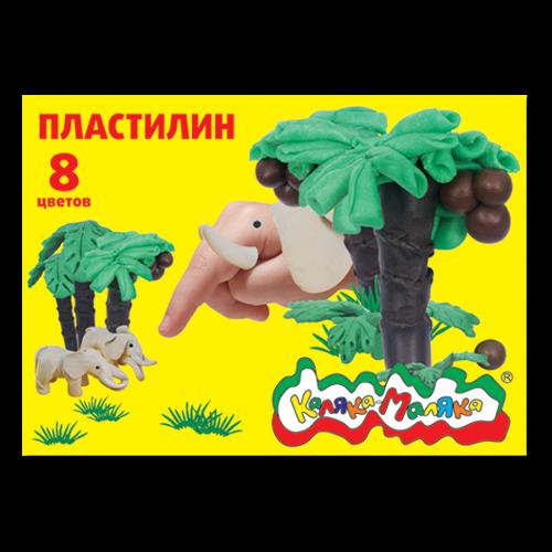 013617 Пластилин Каляка-Маляка, 8цв.