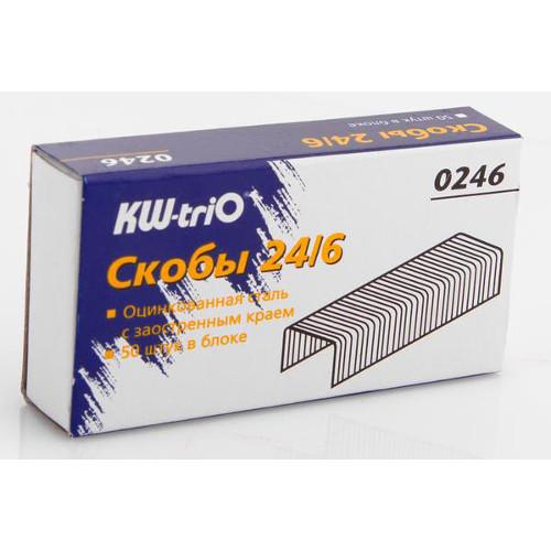 016767 Скобы д/степлера №24 KW-trio