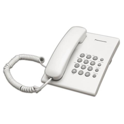 059955 Телефон PANASONIC KX-TS2350RUW, белый, повторный набор, тональный/импульсный режим