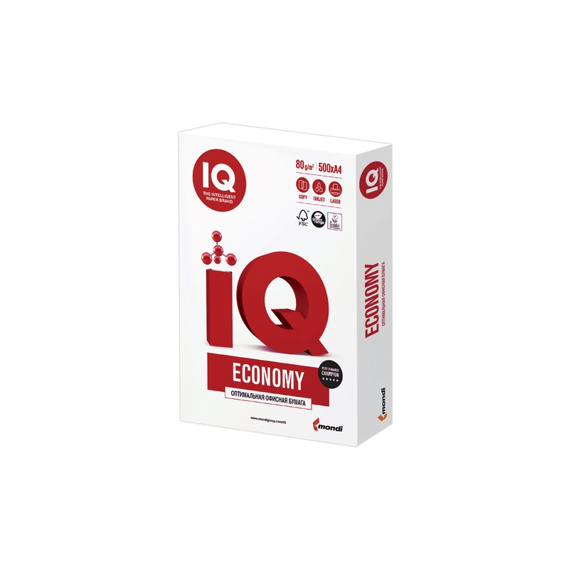 "073357 Бумага офисная А4, класс ""C+"", IQ (АйКью) ECONOMY, 80 г/м2, 500 л."