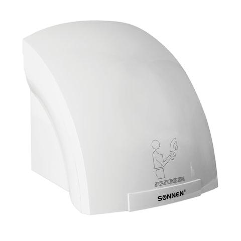 086304 Сушилка для рук SONNEN HD-688, 2000 Вт, время сушки 25 секунд, пластиковый корпус, белая