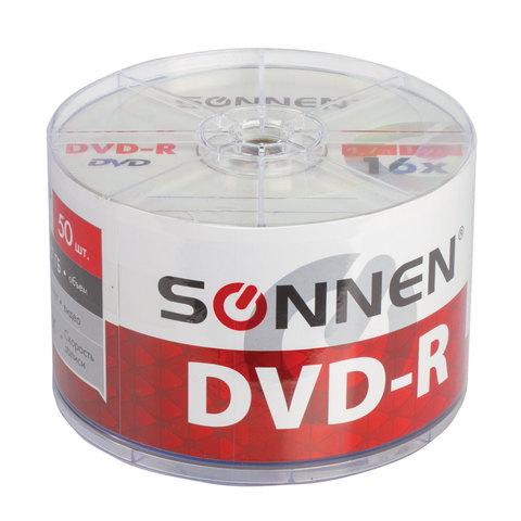 070583 Диски DVD-R SONNEN, 4,7 Gb, 16x, Bulk 1шт.