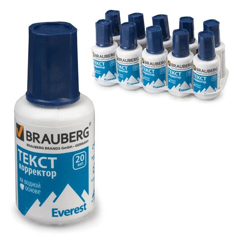 """026916 Корректирующая жидкость BRAUBERG """"Everest"""" 20 мл на вод основе"""