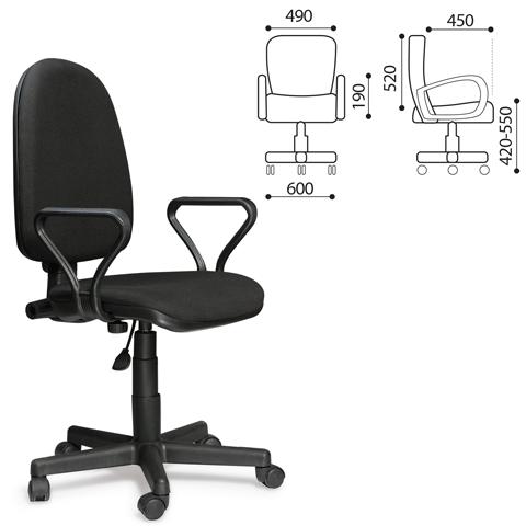 """007489 Кресло офисное """"Престиж""""  черное"""