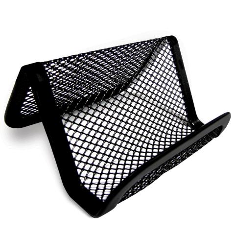 013777 Подставка д/визиток настольная метал.,черн.