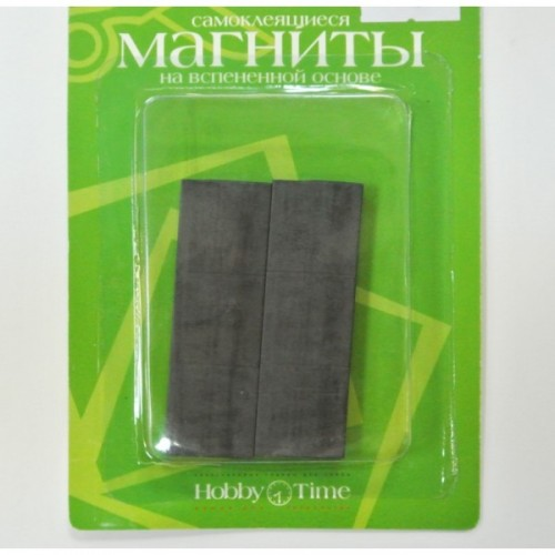 085451 Магниты квадратные самоклеящиеся 6шт 19*19