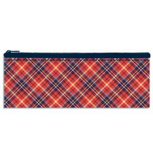 045857 Пенал-косметичка Шотландка красная