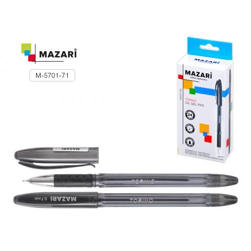 071770 Ручка шариковые MAZARI TORINO чёрная, масляной основе, 0,7мм