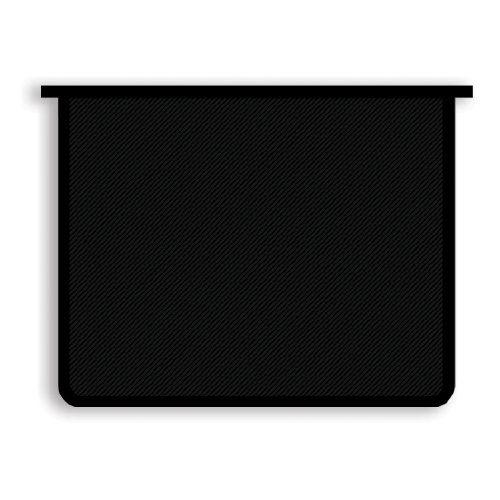 078147 Папка для тетрадей А5 1отд. на молнии сверху  Офис. б/цв Чёрная