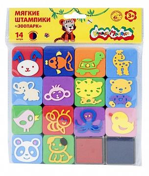 052881 Штампики Каляка-Маляка из ЭВА 14 штампов ЗООПАРК 3+