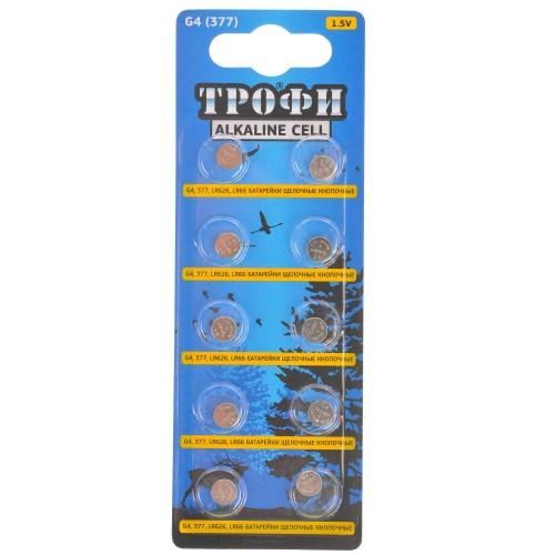 070310 Батарейка-таблетка  G-4 Трофи LR626, LR66