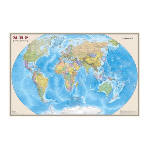 006313 Карта Мира настен. 122*79 (политич.)