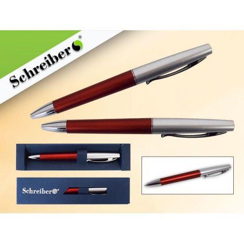 073880 Ручка шариковая в футляре, цв.корпуса Красный