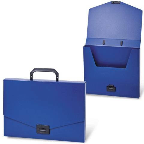 """070591 Портфель пластиковый BRAUBERG """"Energy"""", А4, синий"""