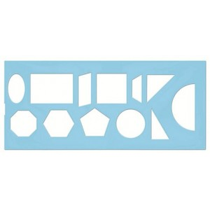 008055 Трафарет геометрических фигур