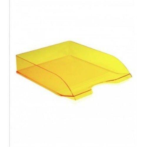 080839 Лоток д\бумаг горизонтальный ДЕЛЬТА жёлтый YELLOW