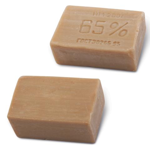 029840 Мыло хозяйственное 65%, 200г, без упаковки, Х102