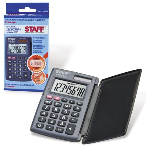 023389 Калькулятор Staff 8разряд. STF-6248