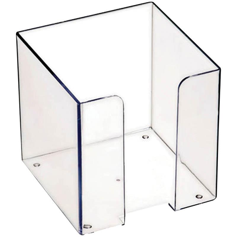 028712 Подставка для бумажного блока 9*9*9см,прозрачная