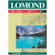 058432 Бумага А4 для стр. принтеров Lomond, 130г/м2 (50л)