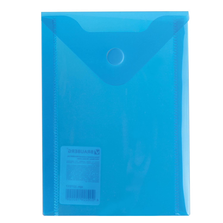 """075993 Папка-конверт с кнопкой """"Brauberg"""" А6, 105*148мм"""