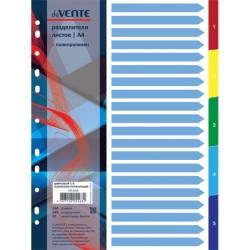 065113 Разделитель листов пластиковый A4 цветовой, 5 цветов