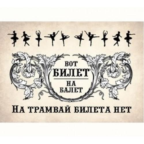 """075248 Обложка для Проездного """"Билет на балет"""""""