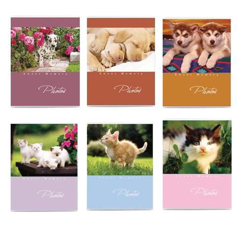 043920 Ф/альбом 36 фото 10*15см, мяг.обложка, котята/щенки