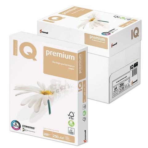 """058787 Бумага IQ PREMIUM А4, 200г/м, 250л. класс """"А+"""""""