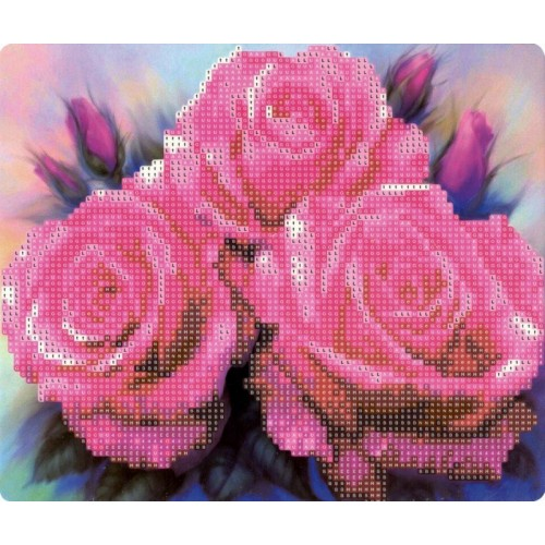 """087432 Мозаика алмазная по номерам 21*25см """"Розы"""" с мольбертом"""