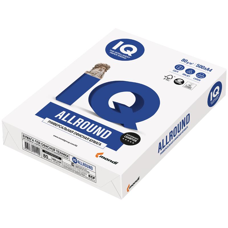 """072007 Бумага офисная А-4, IQ """"Allround"""", 80г/м2, 500л."""