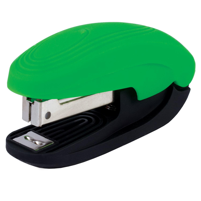 """075722 Степлер Эргономичный BRAUBERG """"Komfort"""", SOFT TOUCH, №10,до 12л, черно-зеленый"""