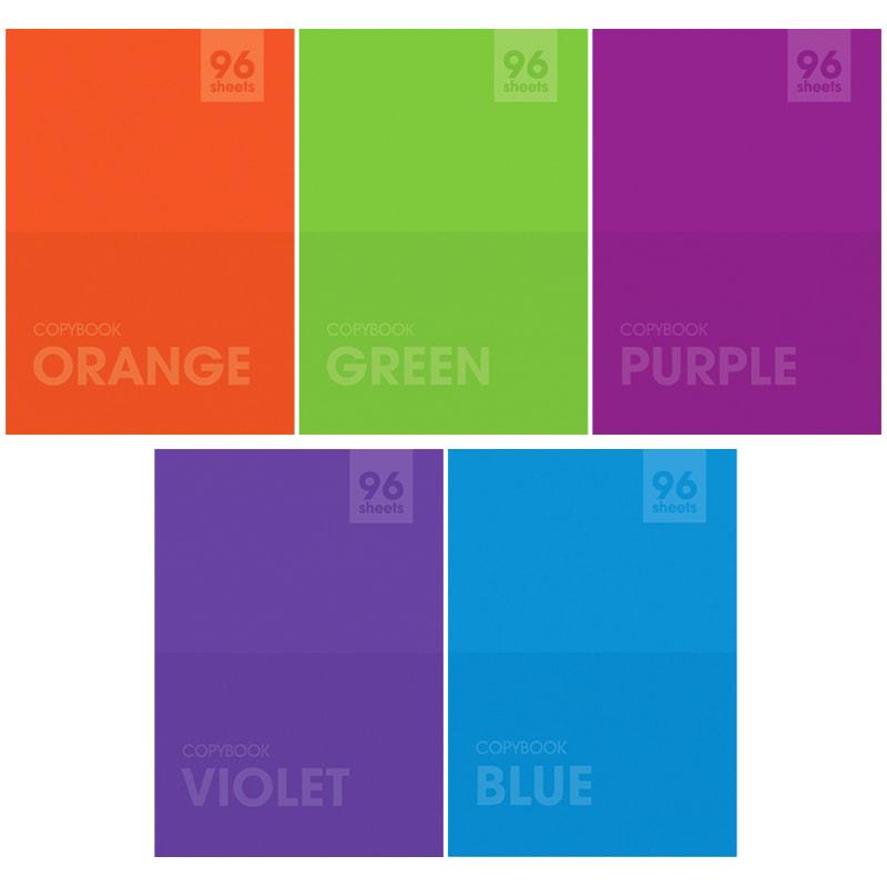 "081723 Тетрадь 96л., А4, линия ArtSpace ""Моноколор. Яркие цвета"""