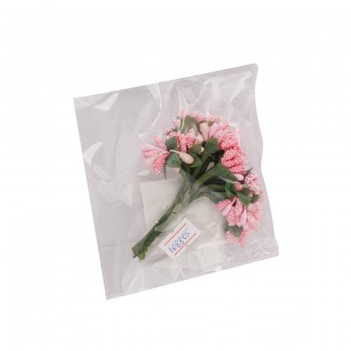 """084607 Декор.Цветы """"Веточки"""" розовый"""