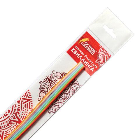 """074963 Бумага для квиллинга """"Радуга"""", 10 цветов, 100 полос, 7 мм х 300 мм, 80 г/м2"""