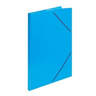030316 Папка с резинкой А4 синий