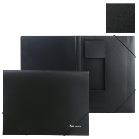057532 Папка на резинках BRAUBERG Стандарт, черная