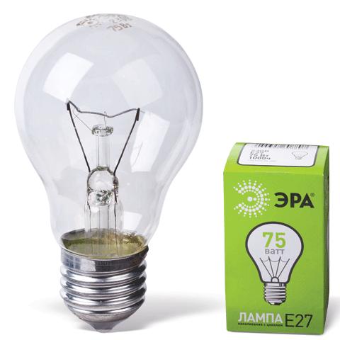 024870 Лампа накаливания ЭРА 75Вт