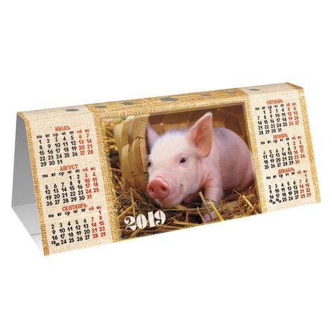 077131 Календарь-домик 2019г HATBER, с фигурной высечкой, Знак Года