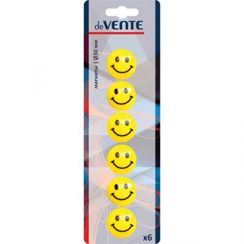 "076817 Магнит для доски ""Smile""  6шт 30мм"