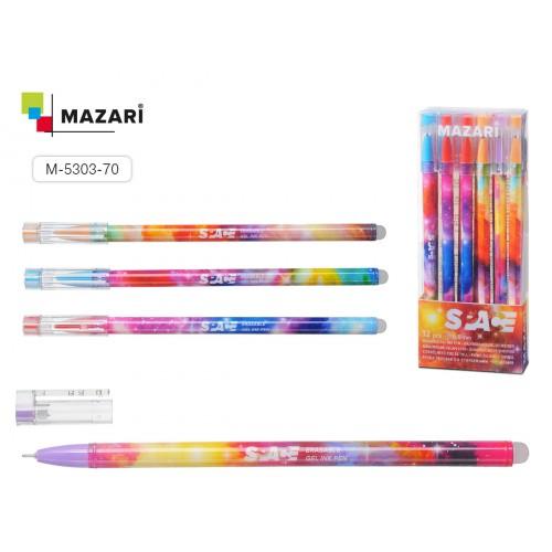 073550 Ручка - шпион MAZARI SPACE гелевая, синяя, со стираемыми термочернилами