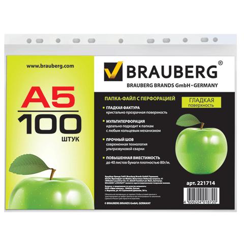 019485 Папки-файлы BRAUBERG, А5