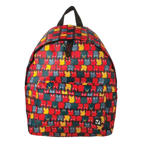 056972 Рюкзак BRAUBERG , сити-формат, красный, Совята