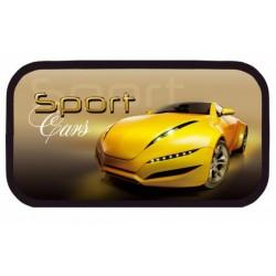 064078 Пенал 2 отделения Sport car жёлтый, лам.