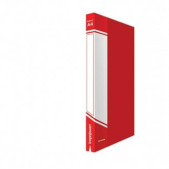 029443 Папка с прижимом inФОРМАТ А4,красный пластик,0,75 мм,карман
