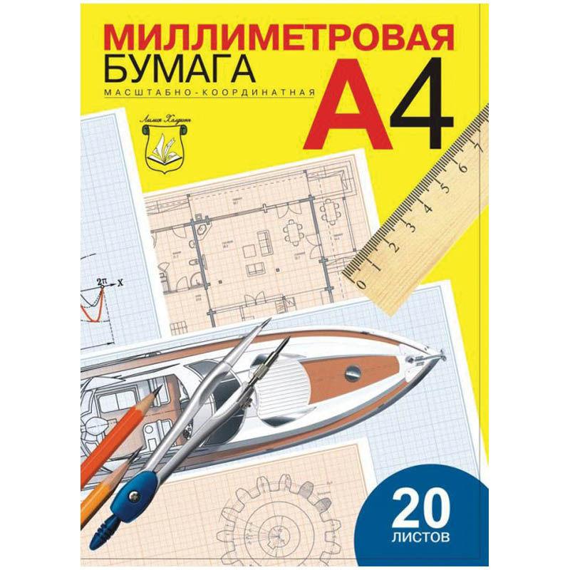 032737 Бумага масштабно-координатная А4 20л.,голубая,в папке