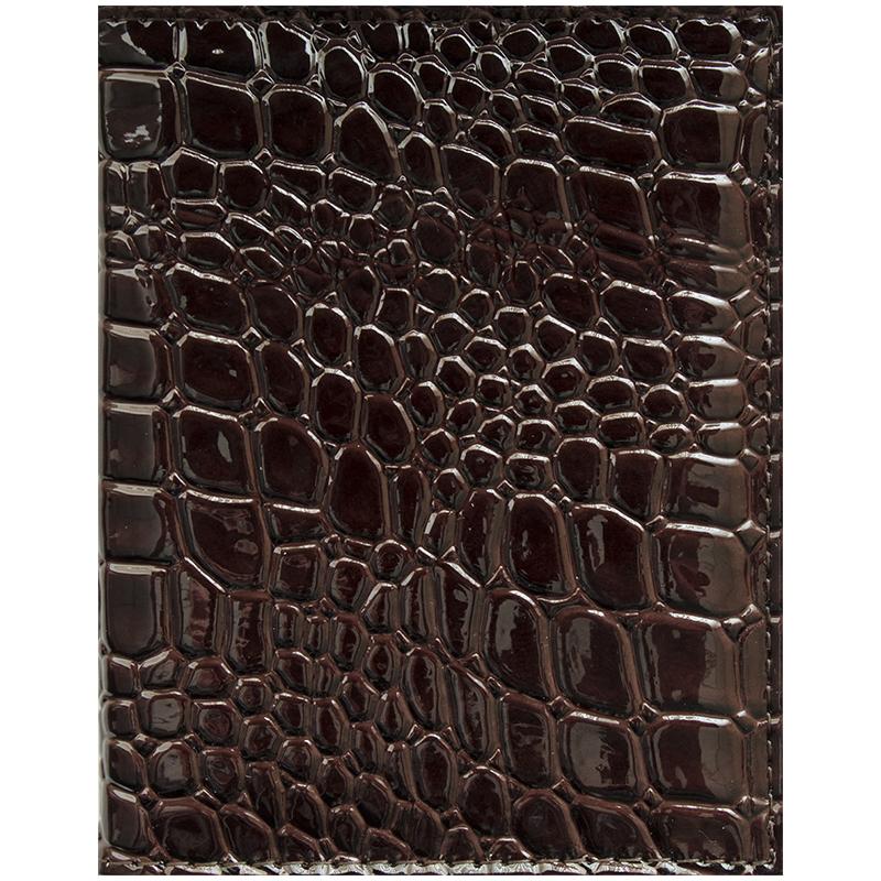 075557 Бумажник водителя OfficeSpace иск. кожа, коричневый, крокодил
